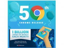 Chrome feiert 50 Versionen und eine Milliarde Mobilnutzer (Bild: Google)