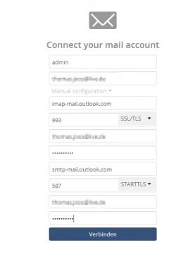 In der Mail-App von ownCloud können Anwender ihre Posteingänge verwalten (Screenshot: Thomas Joos).