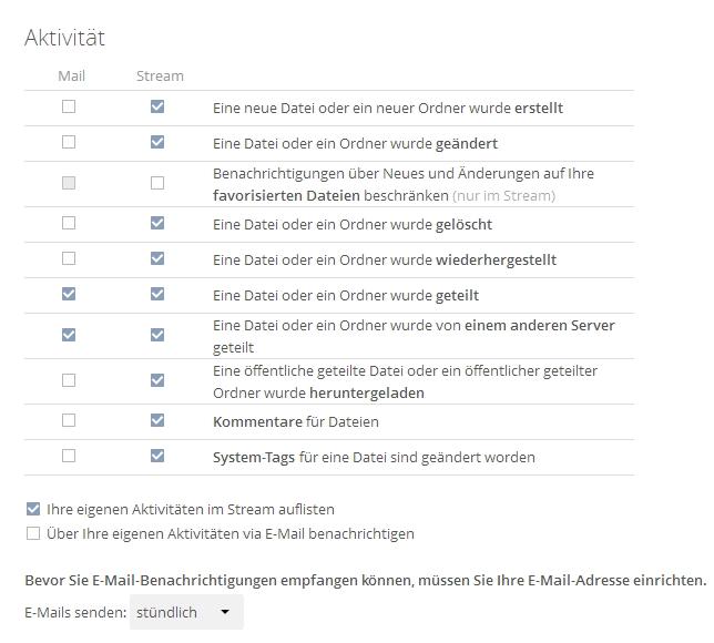 Benutzer können sich Systemnachrichten per E-Mail zustellen lassen. Die Einstellungen dazu sind im eigenen Benutzermenü zu finden (Screenshot: Thomas Joos).