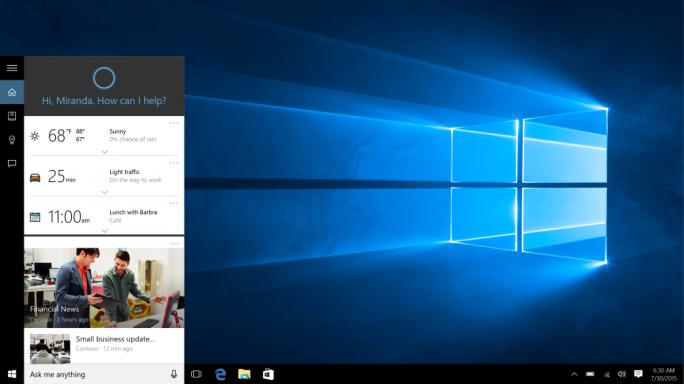 Diese Cortana-Suche beschränkt sich künftig auf Bing und Edge (Screenshot: Microsoft).