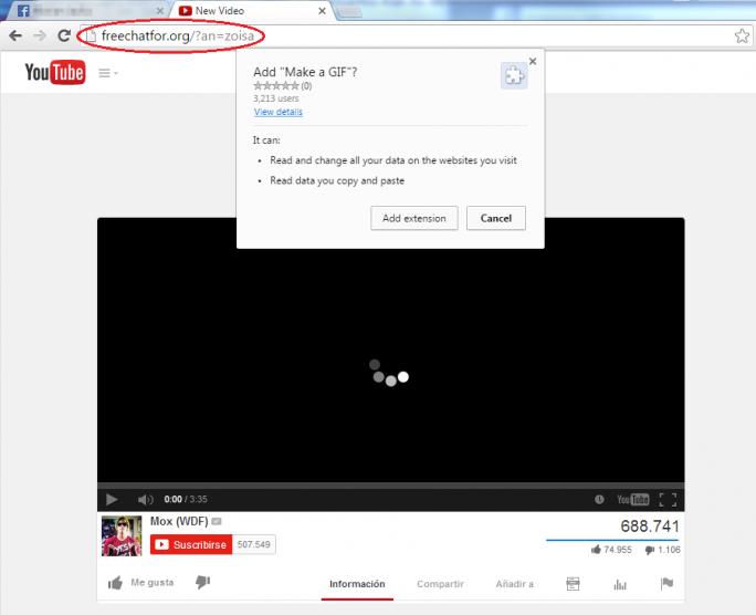 Die Fake-Videos sollen Nutzer dazu verleiten, eine gefährliche Erweiterung für Chrome zu installieren (Bild: Eset).