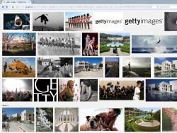 """Ergebnisliste der Suche nach """"Getty Images"""" in Googles Bildersuche (Screenshot: ZDNet.de)"""