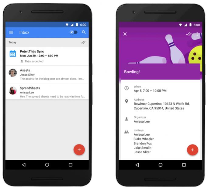 Die neue Terminübersicht in Google Inbox (Bild: Google)