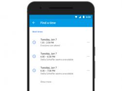 """Die neue Funktion """"Find a time"""" hilft bei der Terminplanung für Meetings (Bild: Google)."""