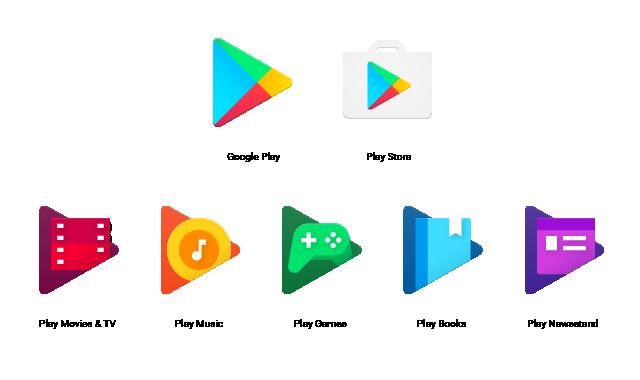 Neue Play-Icons (Bild: Google)