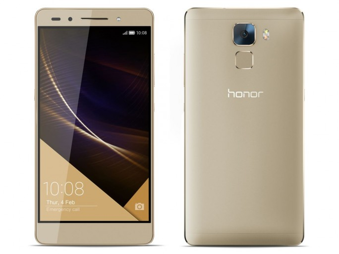 Das auch in Gold erhältliche Honor 7 Premium kommt mit 32 GByte Speicher und inklusive Schnellladegerät (Bild: Huawei/Honor).