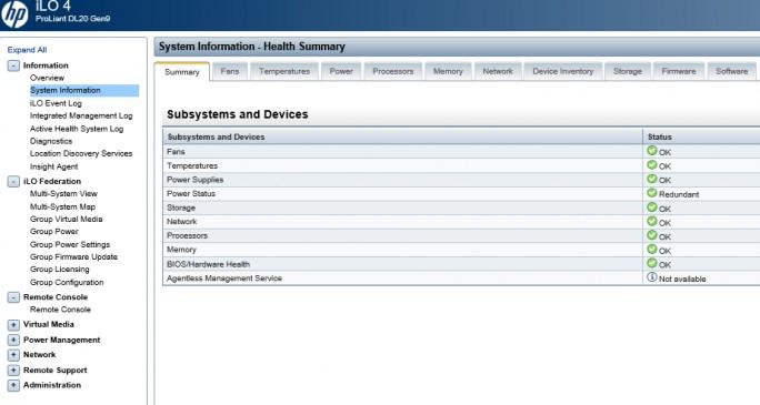 Über ein Webinterface erfolgt der Zugriff auf HPE Integrated Lights-Out (iLO) eines Servers (Screenshot: Thomas Joos).