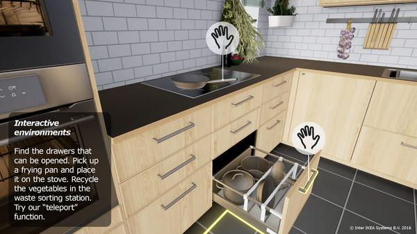 Pfannen verrücken in der Ikea VR Experience (Bild: Ikea)