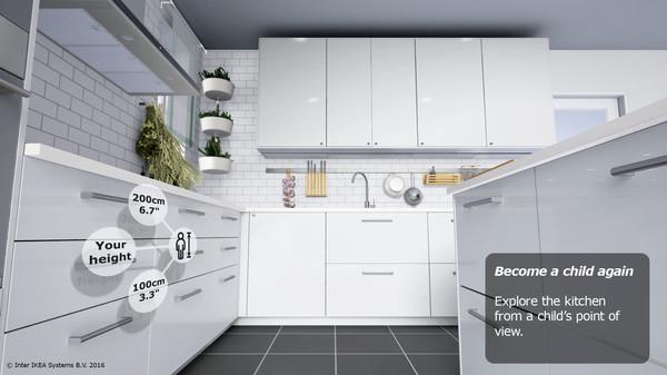 Küche auf Kinderperspektive in der Ikea VR Experience (Bild: Ikea)