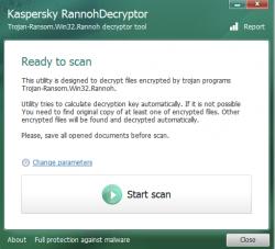 Kaspersky konnte sein Entschlüsselungstool für die Ransomware Rannoh so modifizieren, dass es Systeme auch von CryptXXX befreit (Bild: Kaspersky).