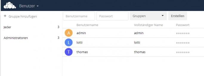 Die angelegten Benutzer dürfen sich über die mobilen Apps an ownCloud anmelden (Screenshot: Thomas Joos).