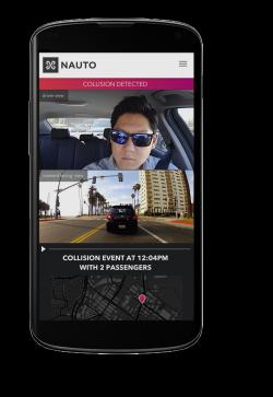 Innen- und Außenaufnahme in Nauto-App (Bild: Nauto)