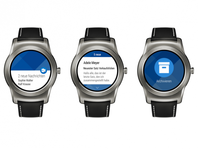 Outlook für Android Wear (Bild: Google)