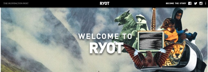 Ryot-Website in Partnerschaft mit  der Huffington Post (Screenshot: ZDNet.de)