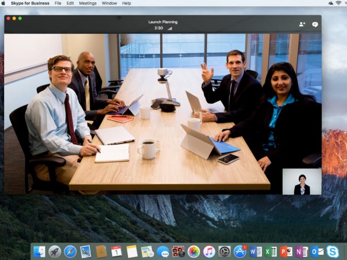 Skype for Business für Mac OS X (Screenshot: Microsoft)