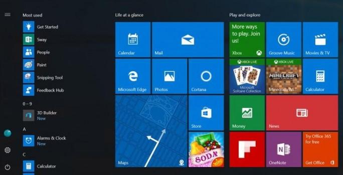 Vorgeschlagenes Startmenü für Windows 10 Anniversary Update (Bild: Microsoft)