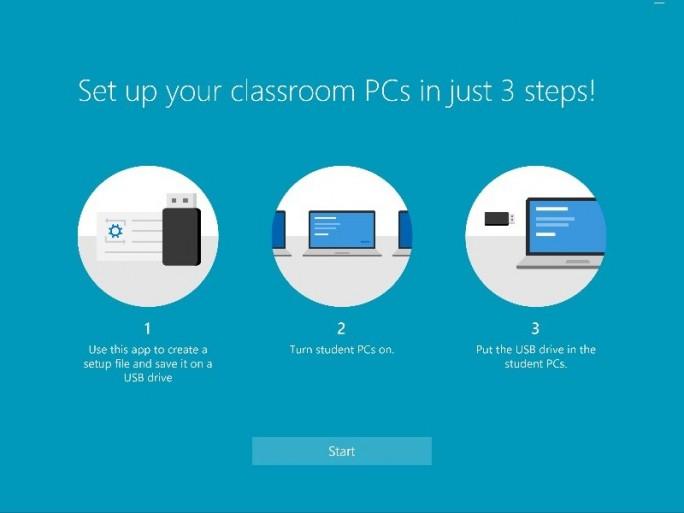 """Das Tool """"Set up School PCs"""" soll die Einrichtung von Klassenraum-PCs vereinfachen (Bild: Microsoft)."""