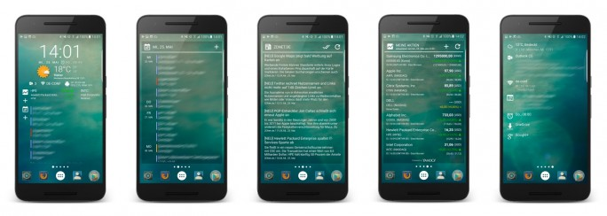 Android-Widget Chronus (Bild: ZDNet.de)