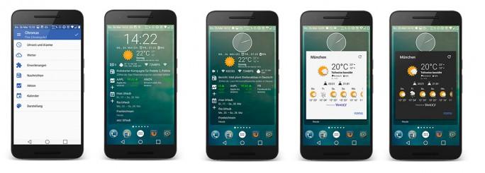 Chronus Flex ermöglicht eine kombinierte Ansicht aller zur Verfügung stehenden Widgets (Bild: ZDNet.de)