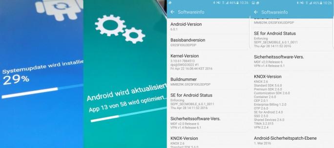 Samsung Galaxy S6 Edge: Update (Bild: ZDNet.de)