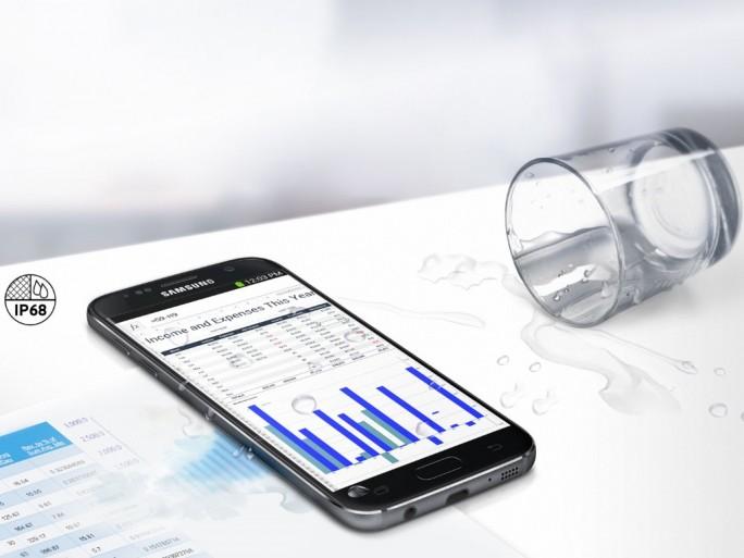 Samsung Galaxy S7: Staub- und Wasserschutz IP68 (Bild: Samsung)