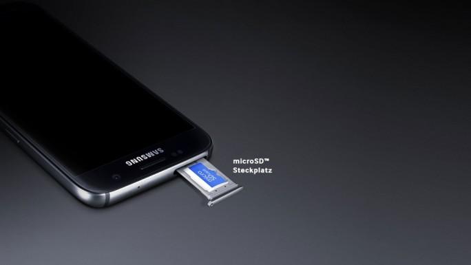 Samsung Galaxy S7, S7 edge: microSD (Bild: Samsung)