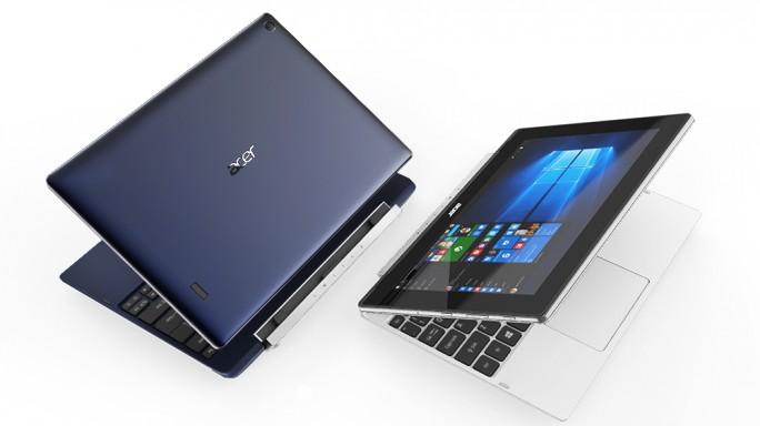 Das Switch V 10 lässt sich dank Tastaturdock als Tablet oder Notebook nutzen (Bild: Acer).