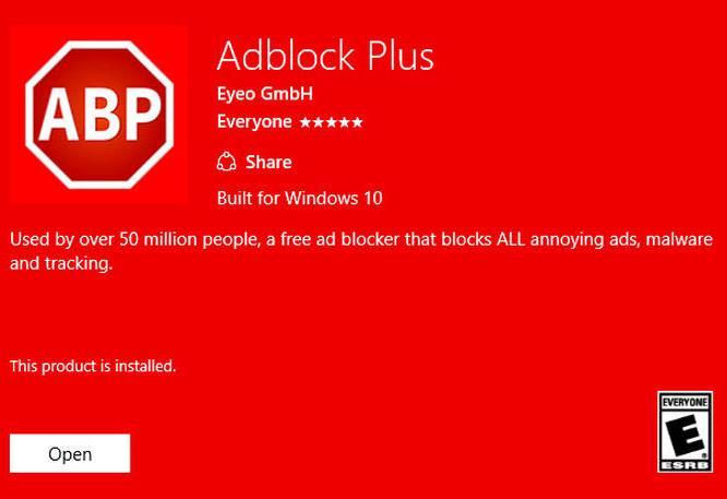 Adblock Plus für Edge-Browser verfügbar
