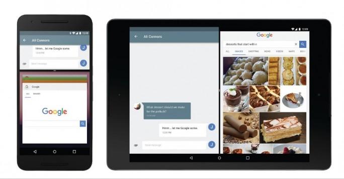 Der Multi-Window-Modus soll die Produktivität von Android N verbessern (Bild: Google).