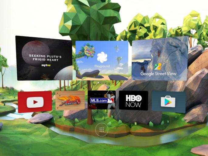 Google will unter anderem seinen Play Store, Street View und Youtube an die VR-Plattform Daydream anpassen (Bild: Google).