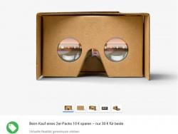In Deutschland verkauft Google zwei Cardboard-VR-Fassungen zum Preis von 30 Euro (Screenshot: ZDNet).
