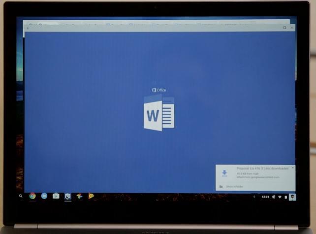 In Form von Android-Apps lassen sich künftig auch Microsoft-Programme auf Chromebooks einsetzen (Bild: ZDNet.com).