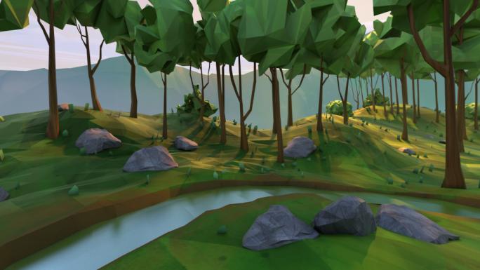 In solchen virtuellen Welten sollen sich Nutzer von Daydream bewegen können (Bild: Google).