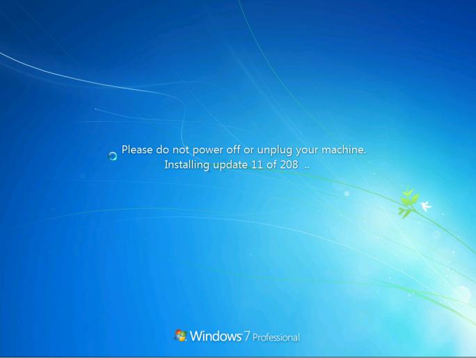 Ein frisch installiertes Windows 7 SP1 benötigt derzeit Dutzende Updates, deren Installation nun das Convenience Rollup Update vereinfachen soll (Screenshot: Microsoft).