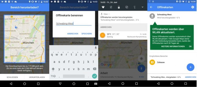 Google Maps 9.31.0 (Screenshot: ZDNet.de)