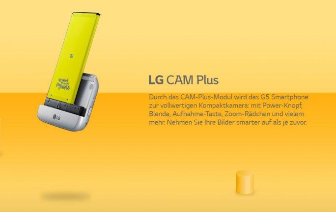 LG G5 Cam Plus (Bild: LG)