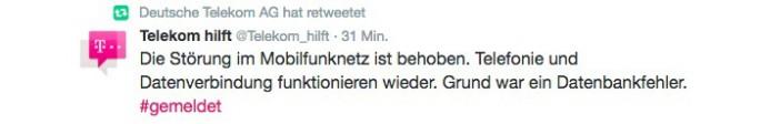 Das Mobilfunknetz der Telekom war von den frühen Morgenstunden bis 10:15 Uhr gestört (Screeenshot: ZDNet.de)