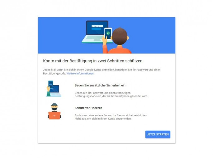 Zwei-Faktor-Authentifzierung (Screenshot: ZDNet.de)