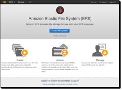 Amazon EFS ist ab sofort in den Regionen US West, US East und Europa (Irland) verfügbar (Bild: AWS).