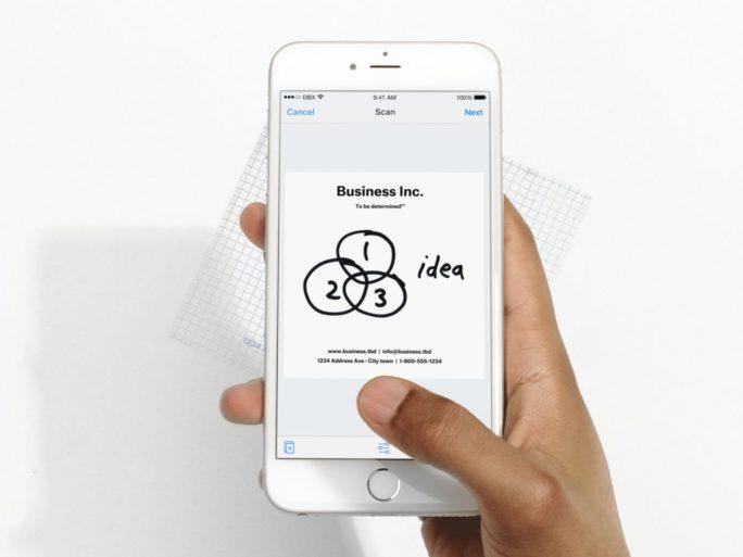 Mit der Dropbox-App für iOS lassen sich nun Dokumente scannen (Bild: Dropbox).