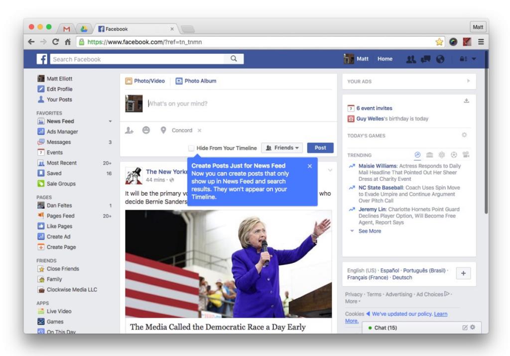 Tomorrow The Big Day Facebook Covers: Facebook Testet Posts Nur Für Den News Feed