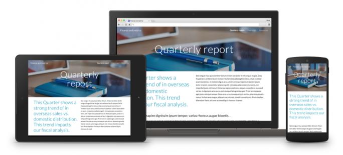 Das neue Google Sites erlaubt das Erstellen von Websites mit Responsive Design (Bild: Google).