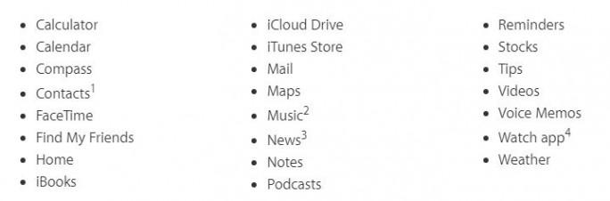 iOS 10: Zahlreiche vorinstallierte Apps lassen sich löschen (Screenshot: ZDNet.de)