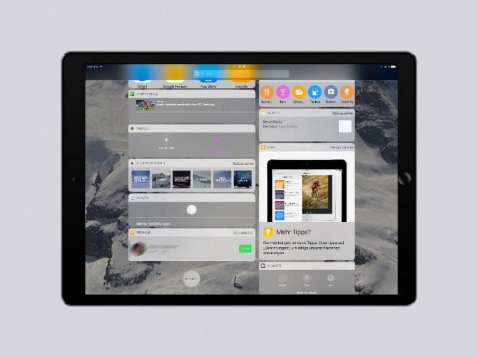 iOS 10: Widget-Ansicht-Home-Screen-aufklappbar (Bild: ZDNet.de)