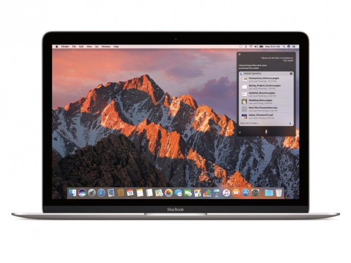 Apple integriert den Sprachassistenten Siri in macOS Sierra (Bild: Apple).
