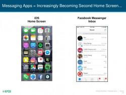 Messaging-Apps lösen zunehmend den Home Screen ab (Bild: Mary Meeker, KPCB).