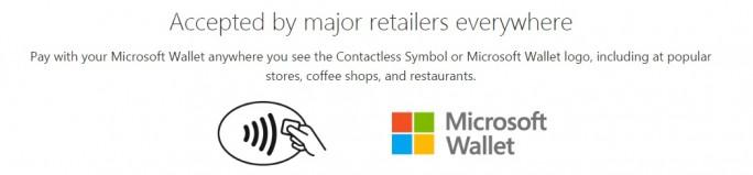 Diese Symbole kennzeichnen Läden, in denen man mit Microsoft Wallet bezahlen kann (Screenshot: ZDNet.de).