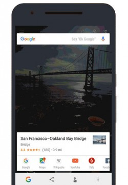 Now on Tap erkennt die Bay Bridge (Bild: Google)