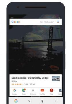 Now on Tap erkennt die Bay Bridge (Bild: Google)