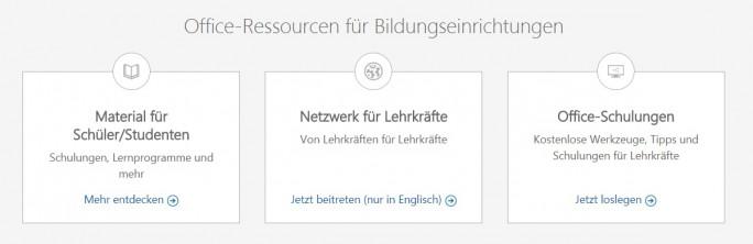 Offi ce für Lehrer (Screenshot: ZDNet.de)